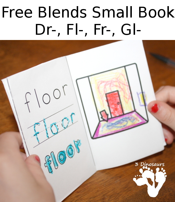 If your young ones are working on their reading skills, you probably know that blends can be tough. This free blends small book covers Dr-, Fl-, Fr- and Gl. :: www.thriftyhomeschoolers.com