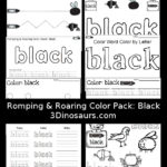 Free Color Word Printables: Black