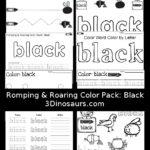 Free Color Word Printables: Black