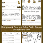 Free Colors Printable Pack: Brown