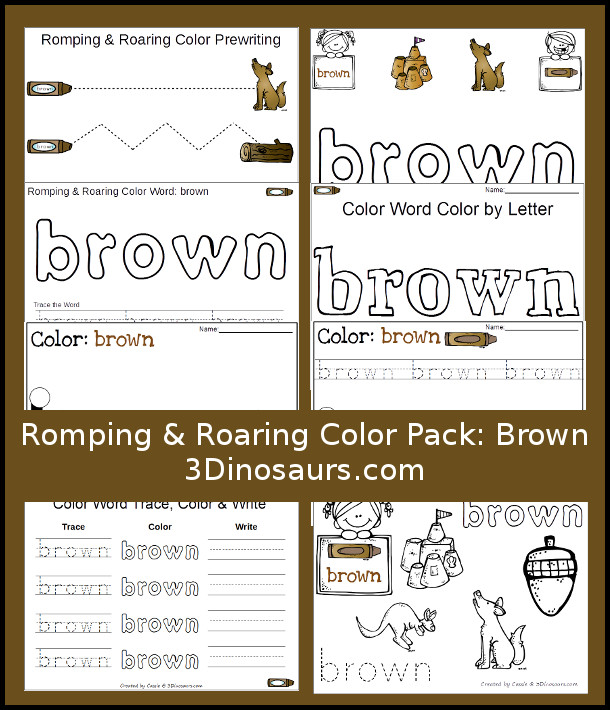 If you're working on recognizing and learning colors with your little ones, these printable color packs are perfect! This brown color pack includes prewriting pages, handwriting practice pages, objects that are brown and more! :: www.thriftyhomeschoolers.com