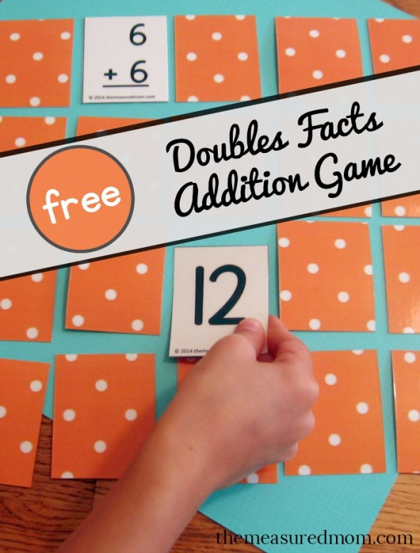 I find that teaching the doubles addition facts first and working from there really helps them. If you're working on doubles facts in addition, this fun matching game would be a great asset. :: www.thriftyhomeschoolers.com
