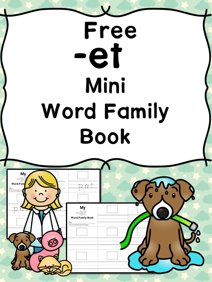 This Free -et CVC Word Family Book gives kids a fun way to work on their reading skills, while sneaking in a little handwriting practice too! :: www.thriftyhomeschoolers.com
