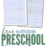 Free and Editable Preschool Planning Pages