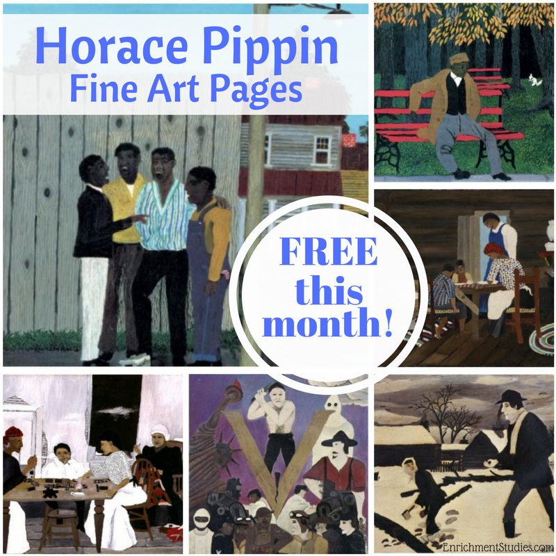 One fun way to introduce new artists to your children is through fine art pages. This month you can get these Horace Pippin fine art pages! :: www.thriftyhomeschoolers.com