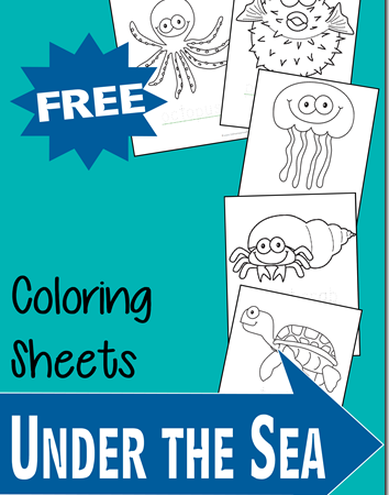 Under the Sea Coloring Sheet Freebies