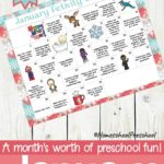 Free January Preschool Activity Calendar