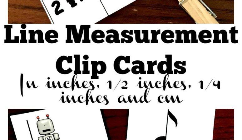 Free Line Measurement Clip Cards