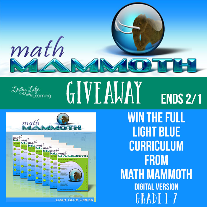Want a math curriculum that will explain the concepts behind the math in an easy to understand format? The Math Mammoth math curriculum uses a mastery approach to focus on one topic before moving onto another. Enter for your chance to win the full Light Blue Curriculum for Grade 1 - 7 (digital version)! Giveaway ends February 1st, 2018! :: www.thriftyhomeschoolers.com