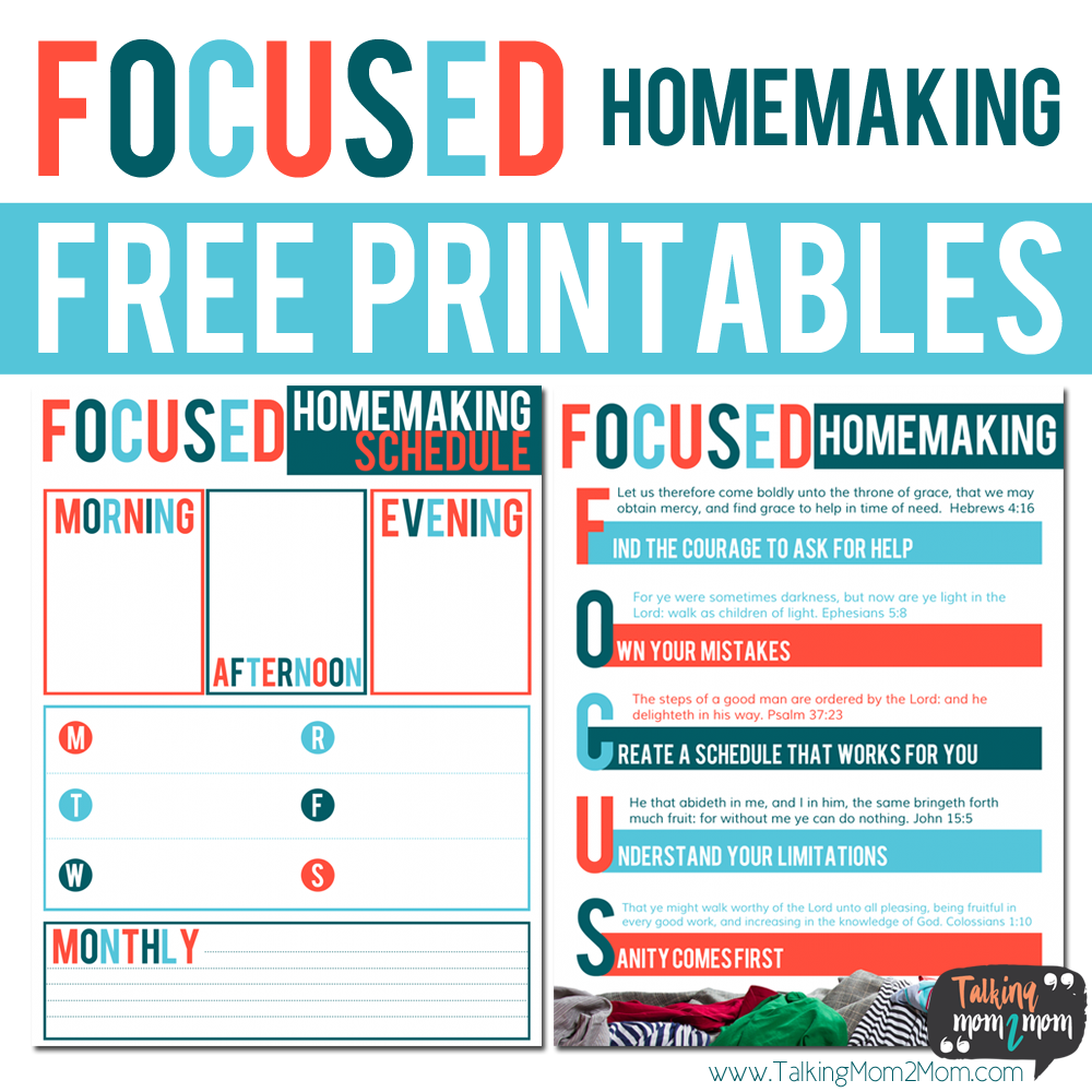 Do you have trouble staying focused or feeling overwhelmed with all the housework and chores? Help things run more smoothly in the new year with this guide & planner. :: www.thriftyhomeschoolers.com