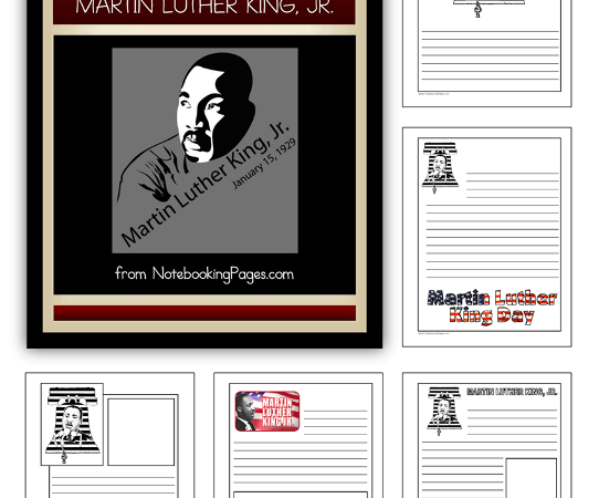 Martin Luther King Jr Notebooking Pages Freebie