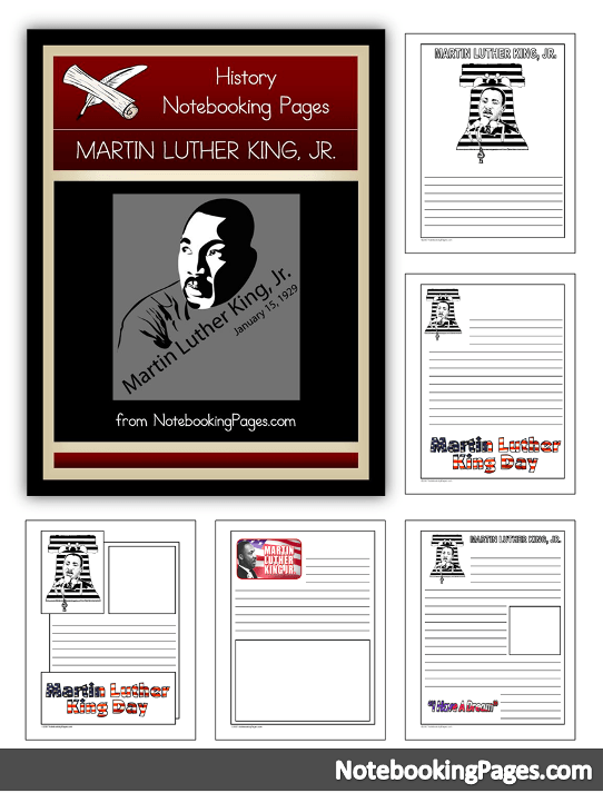If you've never tried notebooking pages, now is the time! These Martin Luther King Jr. Notebooking Pages are a simple and easy way for kids to record what they read and learn about this man in history. :: www.thriftyhomeschoolers.com