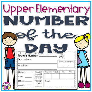 Free Upper Elementary Number of the Day Printables