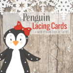 Penguin Lacing Cards Freebie