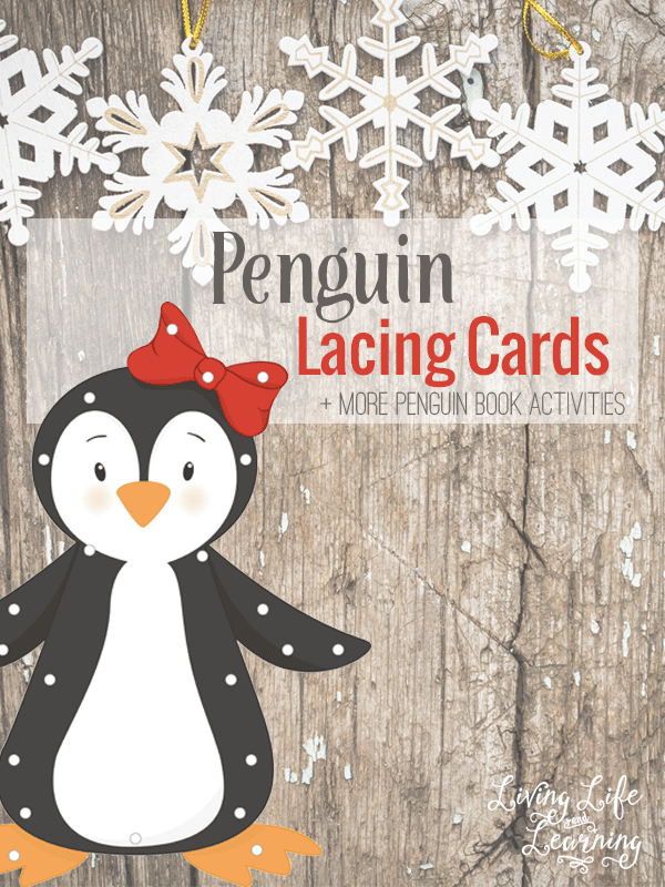Don't you just love penguins? I think they are so fun to study in the winter time. Whether you're studying penguins or just want your little ones to work on their fine motor skills, these Penguin Lacing Cards are a must-have! :: www.thriftyhomeschoolers.com