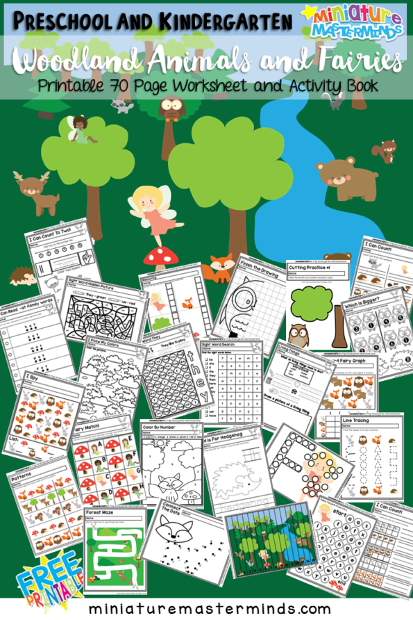This adorable Fairy Wood Land Creatures Activity Book includes 70 pages of activities and fun! Inside you'll find graphing worksheets, upper and lower case matching, sight word search, animal tracing pages and so much more! :: www.thriftyhomeschoolers.com