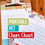 Free Printable Pet Chore Charts