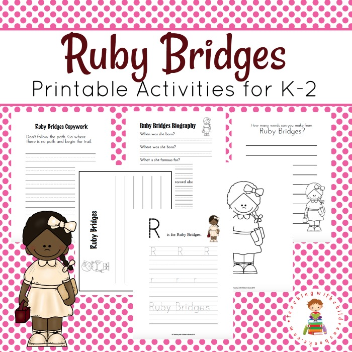 Ruby Bridges' story is fascinating and a great addition to your history studies. Be sure to grab this fun printable pack to coordinate with the book! :: www.thriftyhomeschoolers.com