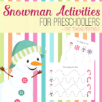 Free Snowman Tracing Activities for Preschoolers