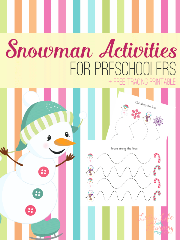 Has winter arrived where you live? Little ones are cooped up so much during the cold winter months. These printable snowman tracing activities for preschoolers are both adorable and fun! :: www.thriftyhomeschoolers.com