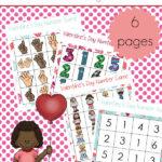 Free Valentine's Day Number Sense Bingo Boards