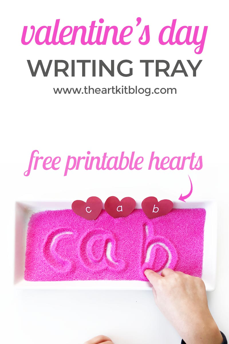 Have you ever used salt trays with your little ones? I was never brave enough, but I love the thought of them! If you do, these printable hearts are the perfect addition to your Valentine's Day unit! :: www.thriftyhomeschoolers.com