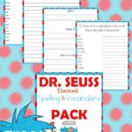 Seuss Inspired Spelling & Vocabulary Freebies