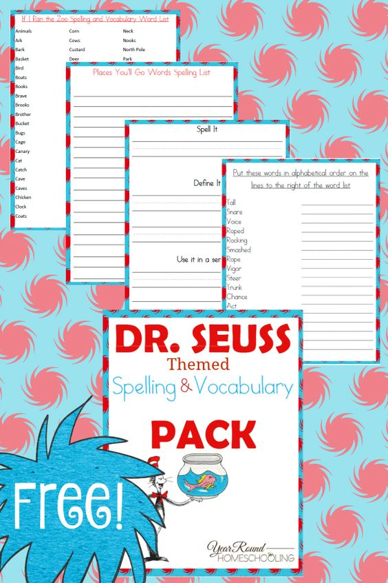 Dr. Seuss books were some of my absolute favorites as a child. I loved reading them over and over. Now, I am trying to pass on that love to my children. One fun way is through printables, like these Spelling & Vocabulary freebies. :: www.thriftyhomeschoolers.com