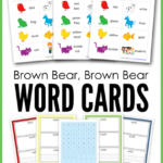 Free Brown Bear, Brown Bear Vocab Cards