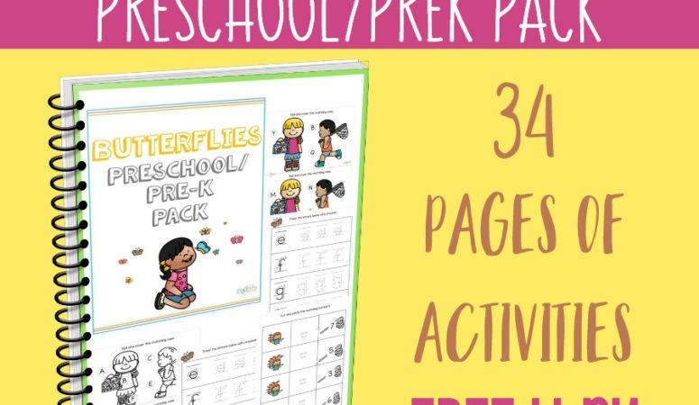 *ENDED* Butterflies Preschool/PreK Pack ~ One Week Only