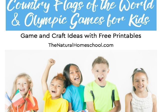 Printable Country Flags of the World & Winter Games for Kids