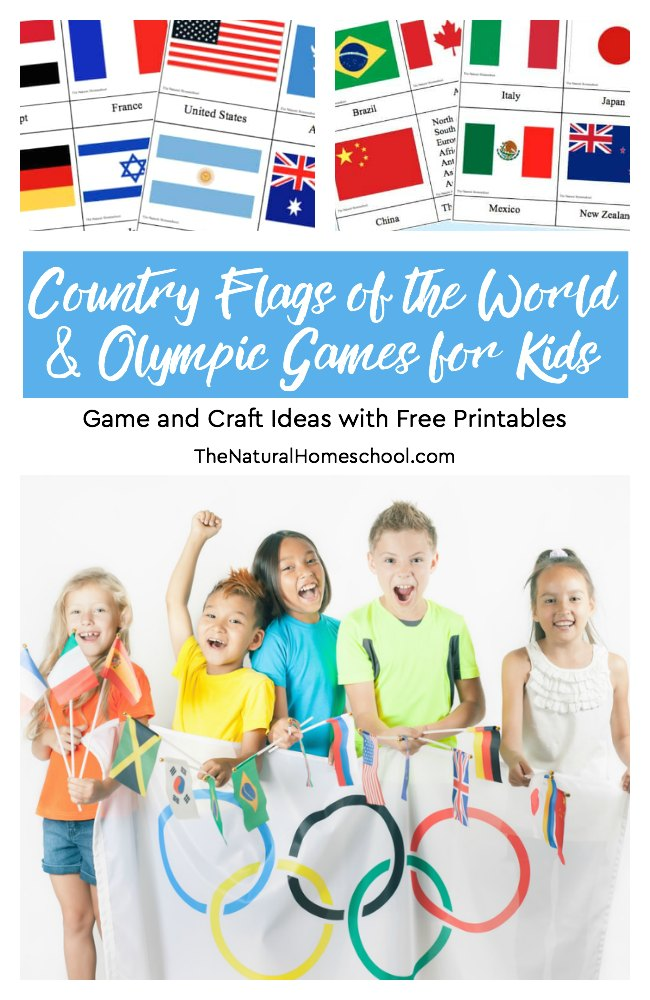 Here are some awesome printable Country Flags of the World & Winter Games for Kids! Enjoy the Winter Games (starting Feb. 9th) with this set and list of ideas.These are perfect to add to any Winter Games Unit Study! :: www.thriftyhomeschoolers.com