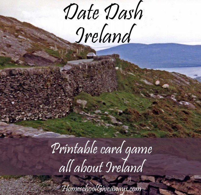 This printable Card Game about Ireland is a fun way to learn more about the country and geography. With multiple levels of difficulty, this is perfect for Middle & High School too! :: www.thriftyhomeschoolers.com