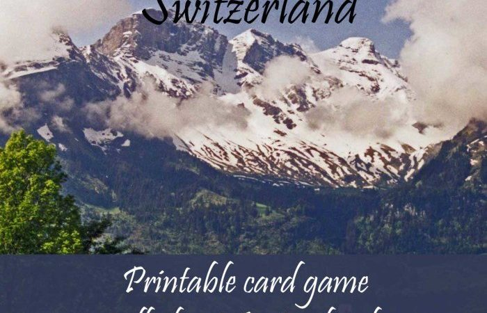 Free Printable Card Game about Switzerland