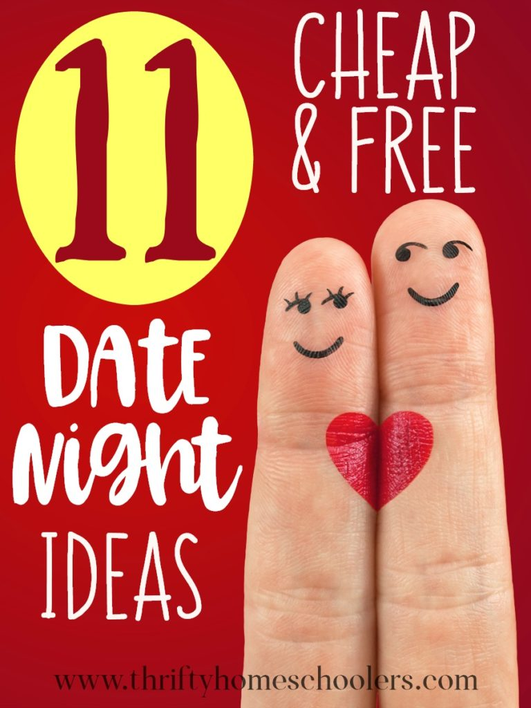 "Whether you struggle to have a ""date night"" because of finances or young children, these cheap & free ideas will leave you wondering why you've waited so long to start! Plus...they're perfect all year long! :: www.thriftyhomeschoolers.com"