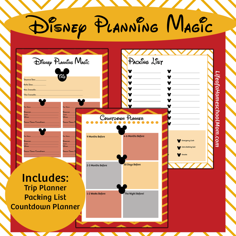 Whether you're in the beginning stages of research or the final stages of making reservations, grab this Free Disney Planning Kit to make sure you don't miss a thing! :: www.thriftyhomeschoolers.com
