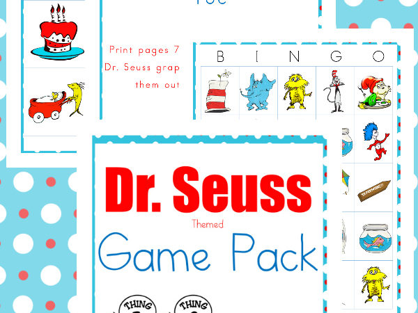 Dr. Seuss Inspired Game Pack Freebie