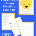 Free Emoji Themed Kids' Organization & Cleaning Checklists