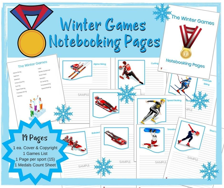 To make the most of your Winter Games viewing, grab these FREE Winter Games Notebooking Pages. These are perfect for recording stats of the events, research about an athlete and so much more! :: www.thriftyhomeschoolers.com