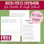 Free Irish Poets Copywork for Middle & High School