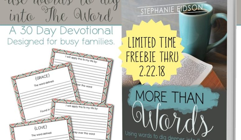 Limited Time Freebie ~ More than Words for Moms 30-Day Devotional