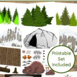 Make a Diorama of Animals that Hibernate in Winter – Printables Included