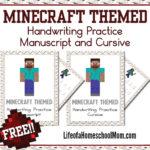 Minecraft Themed Handwriting Practice