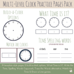 Limited Time Freebie ~ Multi-Level Clock Practice (ends 2.9.18)