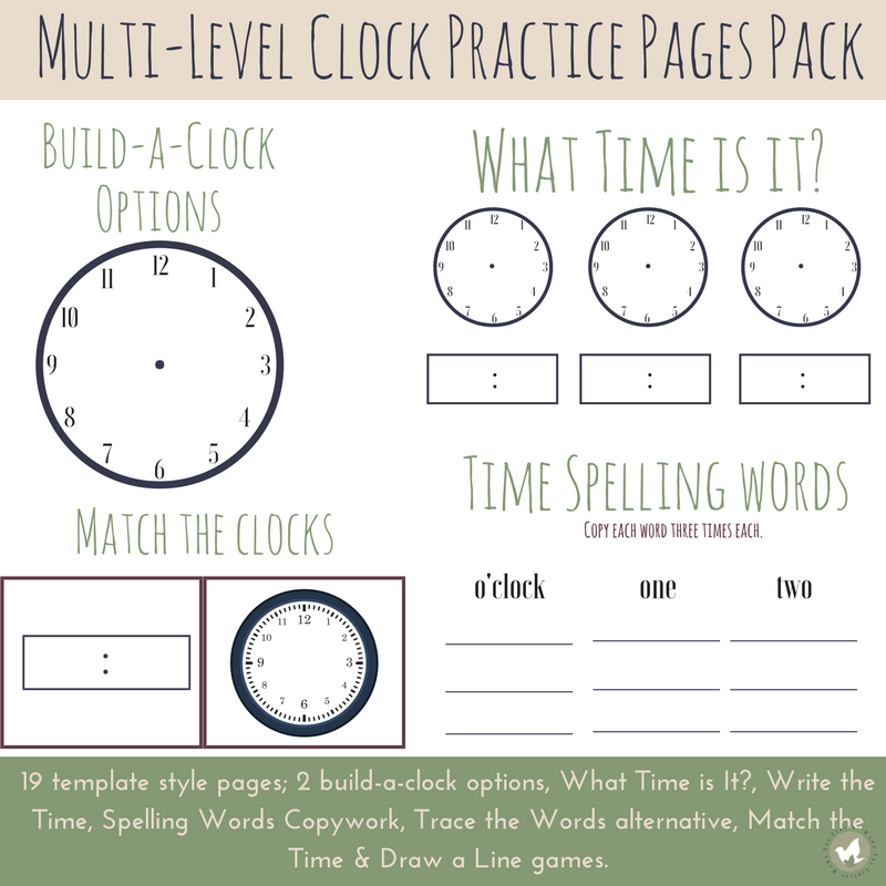 I remember trying to teach our oldest how to tell time and read a clock - it takes continued practice. Grab these Multi-Level Clocks to help kids practice telling time! But hurry...this offer ends 2/9/18!! :: www.thriftyhomeschoolers.com
