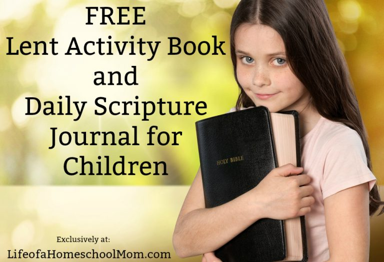 Lent begins Wednesday, February 14th, 2018! If you're celebrating or teaching your children about it, be sure to grab this free Lenten activity book and daily scripture journal for kids. Includes over 70 pages of activities. :: www.thriftyhomeschoolers.com