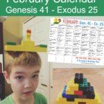 Free February One-Year Bible Brick Challenge Calendar