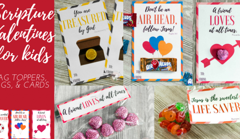 Free Printable Scripture Valentine's for Kids
