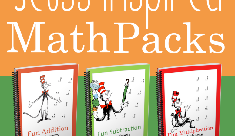 Limited Time Sale on Seuss Inspired Math Packs