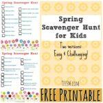 Free Spring Scavenger Hunts